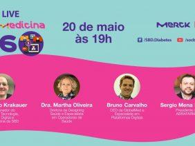 Telemedicina 360 LIVE – Dr. Márcio Krakauer, Dra. Martha Oliveira, Bruno Carvalho e Carvalho Sergio